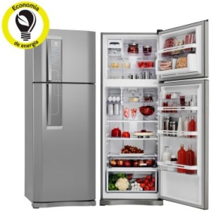 [Ricardo Eletro] Refrigerador | Geladeira Electrolux Frost Free 2 Portas 459 Litros Inox - DF52Xpor R$ 2773