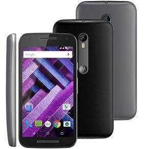 """[Carrefour] Smartphone Motorola Moto G 3ª Geração Dtv Colors 16GB Preto 4G Tela 5"""" Câmera 13MP Android 5.1- por R$ 799"""