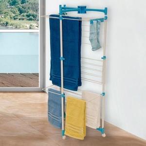 [AMERICANA]  Varal Vertical Branco e Azul - Metaltru   R$ 90