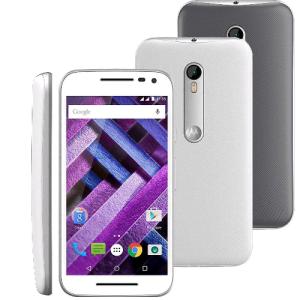 [Casas Bahia] Smartphone Moto G (3ª Geração) Turbo XT1556 Branco com 16GB, Tela de 5'', Dual Chip, Android 5.1, 4G, Câmera 13MP, Processador Octa-Core e RAM de 2GB por R$ 899