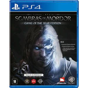 [Walmart] Terra Média: Sombras de Mordor GOTY - PS4