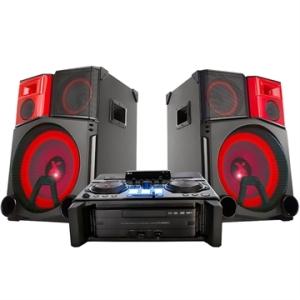 [EFACIL] Mini System CM9950 X Boom Pro, 2 USB, Bluetooth, NFC, DJ Effect, DJ Pro, Auto DJ, DJ Sharing, Microfone, 3900W RMS - LG POR R$ 3349