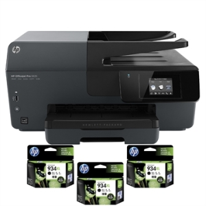 [EFACIL] Multifuncional Officejet Pro 6830 AIO, Fax, WiFi + 3 Cartuchos 934XL, Preto, Bivolt - HP POR R$ 429