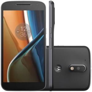 {RICARDOELETRO] Smartphone Motorola Moto G4 XT1626 Preto NO BOLETO