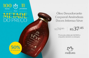 [Natura] Óleo Desodorante Corporal Amêndoas Doces Intensa Sève - 200ml R$ 38