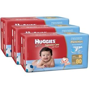 [Americanas]Kit 3 Fraldas Huggies Supreme Care-R$135