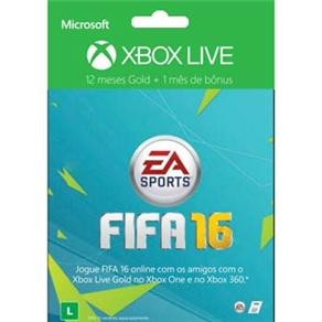 [CASASBAHIA] Xbox Live Gold 12 Meses FIFA 16 + 1 Mês de EA Access R$99,90
