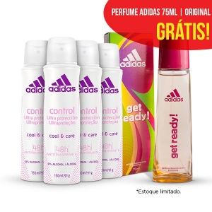[Netfarma] Kit Desodorante Feminino Adidas Control Aerosol por R$40