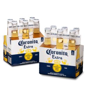 [Empório da Cerveja] Kit Coronita Extra 210ml - 50% Off na Segunda Caixa