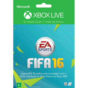 [Walmart] Xbox Live Gold 12 Meses FIFA 16 + 1 Mês de EA Access por R$ 150