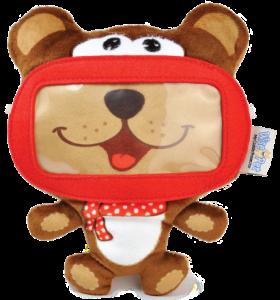 [Saraiva] Capa Protetora de Pelúcia Wise Pet Mini-Bear 900204 Para Smartphones por R$ 2
