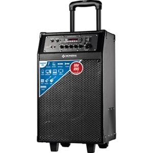 [EFACIL] Caixa Amplificadora CM-02 Entradas USB e SD,Rádio FM, Bateria Recarregável, Acompanha 1 Microfone sem Fio, 60W RMS - Mondial  POR R$ 409