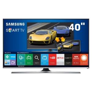 """[Ponto Frio] Smart TV LED 40"""" Full HD Samsung 40J5500 com Connect Share Movie, Screen Mirroring, Função Festa, Wi-Fi, Entradas HDMI e USB  por R$ 1899"""