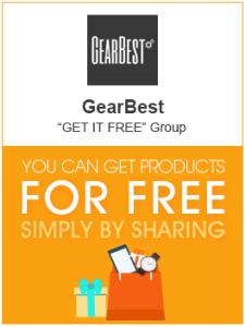 [GearBest] Ganhe produtos de 1~20 dólares grátis + promoções relâmpago