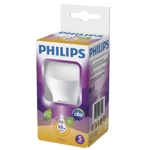 [EFACIL] Lâmpada LED Bulbo 6.5W E27 Amarela 3000K 15000H Bivolt - Philips por 9