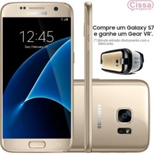 [CISSAMAGAZINE] Smartphone Samsung Galaxy S7 G930F 32GB 4G Desbloqueado - R$ 2.650 DOURADO