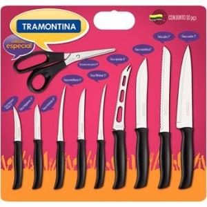[Walmart] Conjunto de Facas Tramontina 10 peças Athus - R$34,90
