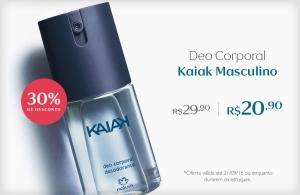 [Natura] Deo Corporal Kaiak Masculino - 100ml - R$ 20,90