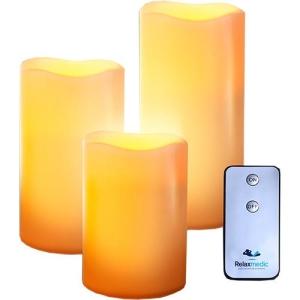 [Sou Barato] Trio Vela LED com Controle Remoto - R$ 27