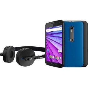 [Americanas] Smartphone Moto G (3ª Geração) Edição Especial Music Dual Chip Android 5.1 16GB 4G Câmera 13MP + Fone Sem Fio Bluetooth - Preto