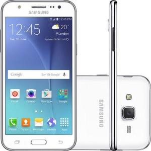[Sou Barato] Smartphone Samsung Galaxy J5 Duos Dual Chip Desbloqueado Oi Android 5.1 Tela 5'' 16GB 4G Wi-Fi Câmera 13MP - Branco por R$ 750