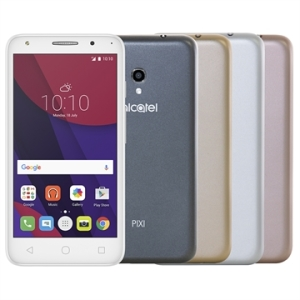 "[EFACIL] Smartphone PIXI4 5'' Metallic, Dual Chip,Tela 5"", 4G+Wi-Fi, Android 6.0, 8MP, 8GB + Cartão 16GB, 4 Capas - Alcatel POR R$511"