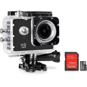 [Walmart] Câmera e Filmadora ONN 12MP Full HD LCD 1.5 Preta + Cartão de Memória SanDisk 16GB por R$ 130