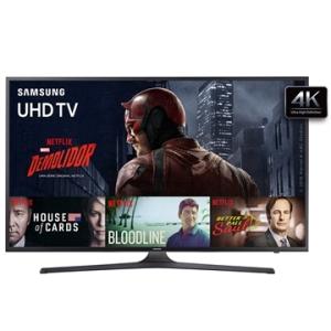 "[EFACIL] Smart TV 70"" Ultra HD 4K UN70KU6000GXZD WiFi, 2 USB, 3 HDMI - Samsung POR R$ 12098"