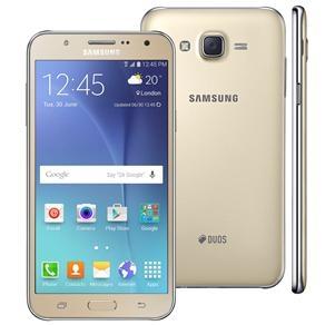 """[Casas Bahia] Smartphone Samsung Galaxy J7 Duos Dourado com Dual chip, Tela 5.5"""", 4G, Câmera 13MP, Android 5.1 e Processador Octa Core de 1.5 Ghz - R$984"""