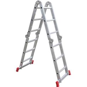 [Americanas] - Escada Articulada Multifuncional 12 Degraus 13 Posições Alumínio - R$193