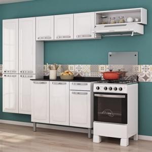 [EFACIL]Cozinha Completa Rose 10 Portas/1 Gaveta de Aço Branco - Itatiaia POR R$ 586
