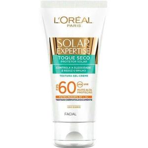 [Sou BArato] Protetor Facial Solar Expertise Toque Seco FPS 60 - L'Oréal Paris de 69,99 por 24,99