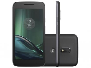 [Magazine Luiza] Smartphone Motorola Moto G 4ª Geração Play 16GB - Preto Dual Chip 4G Câm. 8MP + Selfie 5MP Tela 5 por R$ 766