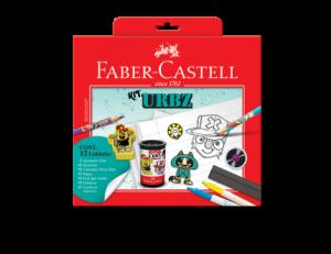 [Saraiva] Kit Escolar Faber Castell Urbz c/ Ecolápis + borrachas + apontador + régua + Canetinhas Por R$ 15