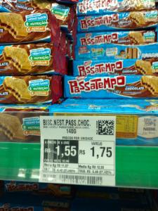 [Atacadão Loja Física Palmas-TO]Biscoito Passatempo - R$1,55