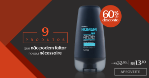 [Natura] Aquagel pós-barba Natura Homem / 60% OFF - R$13
