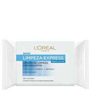 [Beleza na Web] L'Oréal Paris Dermo-Expertise Limpeza Express – Lenços Demaquilantes 25 Unidades por R$13