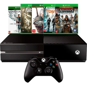 [Submarino] Xbox One 500GB + 5 Jogos por R$1.799,99