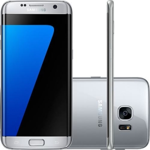 "[SUBMARINO] Smartphone Samsung Galaxy S7 Edge Android 6.0 Tela 5.5"" 32GB 4G Câmera 12MP - Prata"