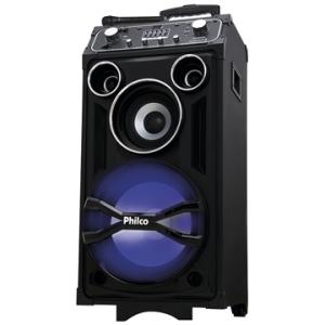 [EFACIL] Caixa Amplificadora PHT8000 2 USB, Bluetooth, Dual Guitar, Flash Lights, Microfone Wireless, 600W RMS - Philco POR R$837