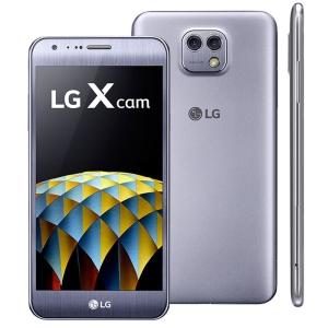 """[Ponto Frio] Smartphone LG X Cam Titânio com Duas Câmeras Traseira, 16GB, Tela de 5.2"""", Android 6.0, 4G, Processador Octa Core de 1.1 GHz e 2GB de RAM por R$ 1169"""