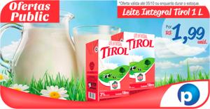 [Public Supermercados/São Paulo] LEITE TIROL 1L - R$ 1,99