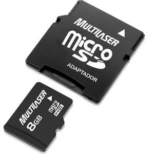 [Submarino] Cartão de Memória Multilaser MicroSD 8GB com Adaptador para SD