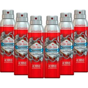 [SouBarato] Kit com 6 Desodorantes Antitranspirante Old Spice Matador - 150ml - R$36