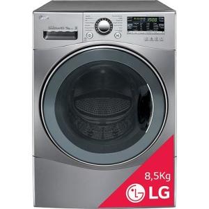 [SUBMARINO] Lava & Seca LG Big Door 8,5kg Aço Escovado Touch LED