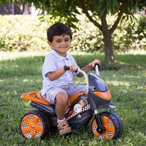 [Americanas] Moto Elétrica Infantil TR1002SC Speed Cinza e Laranja 3km/h - R$143