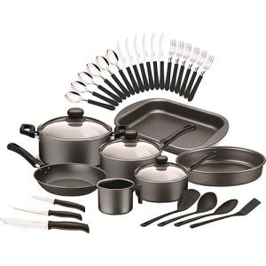 [Shoptime] Kit Cozinha Tramontina 32 Peças Preto - R$158