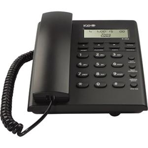 [EFACIL] Telefone K302 c/ identificador de chamada, Despertador - Keo POR R$56