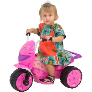 [Americanas] Moto Elétrica Infantil TR1002S Speed Lilás e Rosa 6V - brink+ por R$ 150