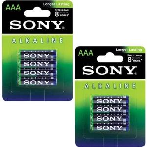 [Sou Barato] Pilha Alcalina Sony AAA com 8 unidades por R$ 15 (frete gratis sp/rj)